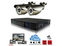 2* HD cameras CCTV System with installation