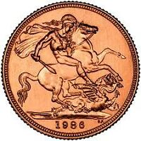 Gold Sovereigns 1986