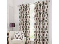 Dunelm Curtains plus one cushion - as new £35 size 66x54 inches (168cm x 137cm)