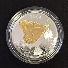 2004 Clouded Sulphur Butterfly 50-Cent Coin - Sterling Silver