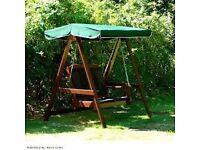 Wooden 2 seater garden swing