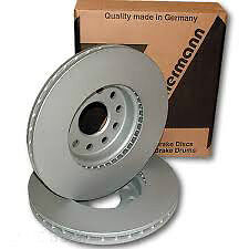 2 FRONT COATED BRAKE ROTOR & PADS Porsche	Cayenne 2003-2013