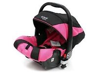 Pink car seat for infant