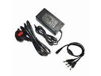 Universal DC 12V Volt 5A Amp with 4 Way Splitter CCTV Power Supply Adapter for cctv camera