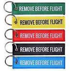 Remove Before Flight sleutelhangers, (F-16, F-35, F-4, F-104