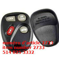 Remote Entry Keyless Key Shell Case Fob For GM Buick Chevrolet 4