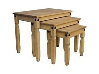 Brand New In Box Corona Mexican Pine Nest Of Tables in Waxed Pine £45