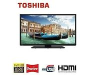 TOSHIBA 40 INCH LED FULL HD TV WITH BUILT IN FREEVIEW**CAN BE DELIVERED**