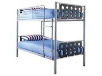 Grey / Silver metal bunk beds