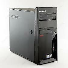 LENOVO FACTORY REFURB PC  LENOVO M58 ,INTEL 3GHZ, 4GB, 250GB, DVDRW, 8USB