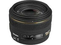 Sigma 30mm f1.4 DC HSM EX, Canon EF-S Fit