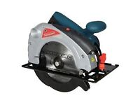 BRAND NEW HEAVY DUTY SILVER LINE 1400W 185MM CIRCULAR SAW WITH LAZER GUIDE & CUTTING BLADE boxed