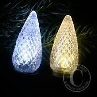 Warm White and Cool white LED C9 replacement bulbs $1.30 each