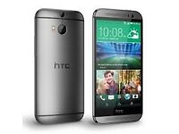 HTC ONE M8 (GREY,UNLOCKED NETWORK,GOOD CONDITION )