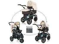 Hauck Viper Trio Set includes pushchair, carrycot, car seat and rain cover