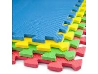 11 x Interlocking Soft Floor Matts / Kids Floor Matts / Exercise Floor Matts Only £15
