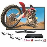 "LG 47"" LM5850 Cinema 3D 1080p 120Hz LED TV with LG BP420 3D Blu-"
