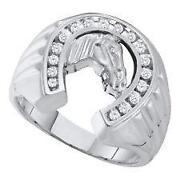 Mens Diamond Horseshoe Ring