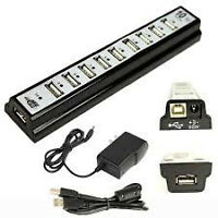 HIGH QUALITY 10 PORT HI-SPEED USB 2.0 HUB