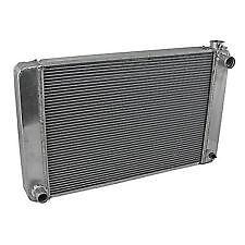 Ford/Mopar 26x19x2.2 Aluminum Radiator (TR-BL O/L)Satin(W D/Plug London Ontario image 1