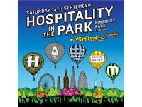 FOR SALE- ONE HOSPITALITY IN THE PARK TICKET- SATURDAY 24TH SEPTEMBER