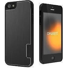 Cygnett iPhone 5, 5S, Cygnett UrbanShield Brushed Aluminum Case - Black