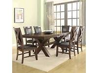 Extendable Dinning table with six chairs