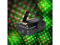Mini LED Stage laser Light Red & Green Star Projector Strobe DJ Disco Party
