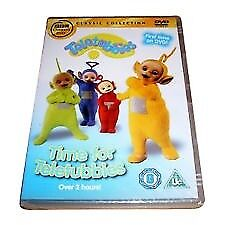 TELETUBBIES DVD TIME FOR THE TELETUBBIES CHILDRENS KIDS CBEEBIES RARE