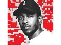 Kendrick Lamar STANDING Tickets The Damn Tour - DAMN. o2 London 13 February 2018 - cheapest price!