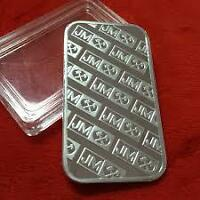 1 oz Johnson Matthey Silver Bar $ 25