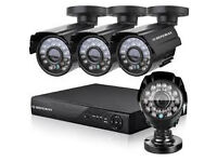 cctv camera system 4 channel dvr with 500gb 4 hd cameras supplied and fitted phone app free xmeye