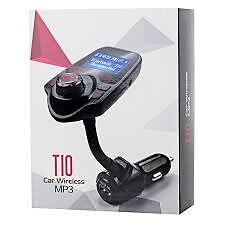T10 LCD Bluetooth Car Kit MP3 car FM Transmitter Charger Handsfree new boxed