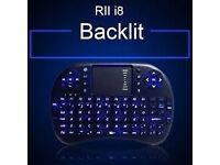 Rii i8 2.4G Wireless Mini Backlit Keyboard Multi Air Mouse Touchpad For PC Android TV Box &tablet