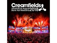 CREAMFIELDS FULL WEEKEND TICKETS IN EXCHANGE FOR SHIFT ON COFFEE STAND