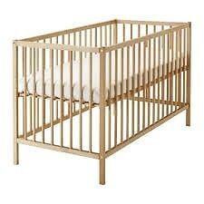 Cot Sniglar (beech) with mattress IKEA