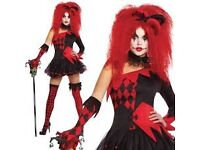 HARLEY QUINN/JSCARY ESTER FANCY DRESS OUTFIT SIZE 8/10 HALLOWEEN OR HEN DO