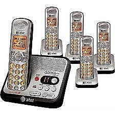 AT&T EL52500 Cordless Phone DECT, 5 Handset, Answering Machine, Caller ID - Speakerphone SUPER SALE $69.00 NO TAX NO TAX