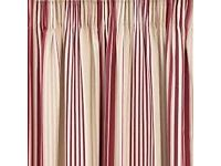 Laura Ashley Curtains Irving Stripe Cranberry
