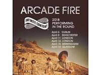 2 x Arcade Fire tickets (seated) Birmingham Genting arena April 15th