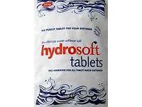 Hydrosoft Salt Tablets 25kg Bag Water Softener FCC Food Grade 99.9% Pure