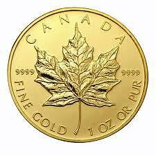 1oz Canadian Gold Maple Leaf Coin