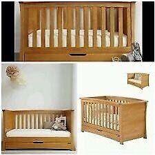 Solid oak Mamas & Papas Ocean cot bed