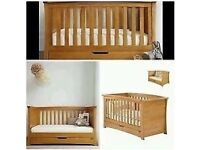 Solid oak Mamas & Papas Ocean cot bed
