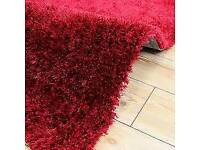 220X160cm Brand new condition beautiful shaggy pile red shimmer rug