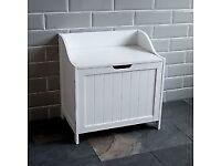 White Bathroom or Bedroom Laundry Storage Box