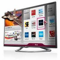 """60""""LG 1080p 120hz slim bezel 3D smart LED TV (la6205)"""