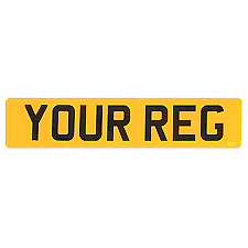 Car Parts - REAR YELLOW Number Plates PLATE Road MOT Legal Compliant Car van