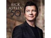 Rick Astley Tickets x3 FRONT STALLS row M Southend Cliffs Pavilion Tues 4th April £300