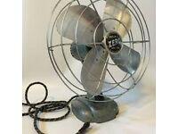Old metal desk fan